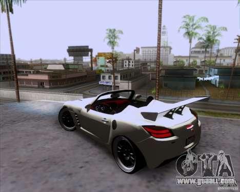 Saturn Sky Roadster for GTA San Andreas upper view