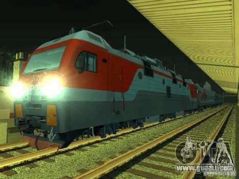 ÈP1M-392 OJSC «RUSSIAN RAILWAYS» for GTA San Andreas back left view