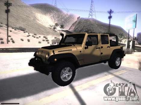 Jeep Wrangler Rubicon Unlimited 2012 for GTA San Andreas