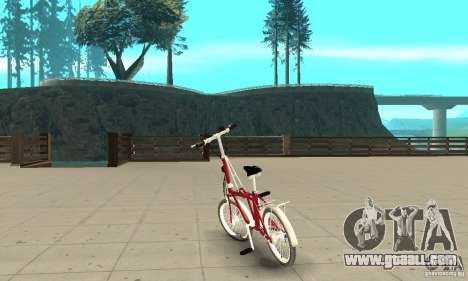 Child Bicycle for GTA San Andreas back left view