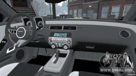 Chevrolet Camaro v1.0 for GTA 4 upper view