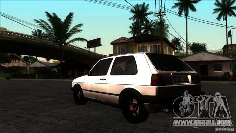 VW Golf 2 for GTA San Andreas back left view