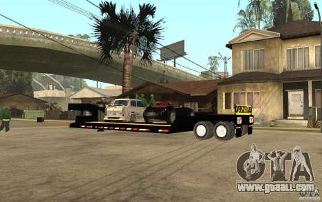 Trailer lowboy transport for GTA San Andreas left view
