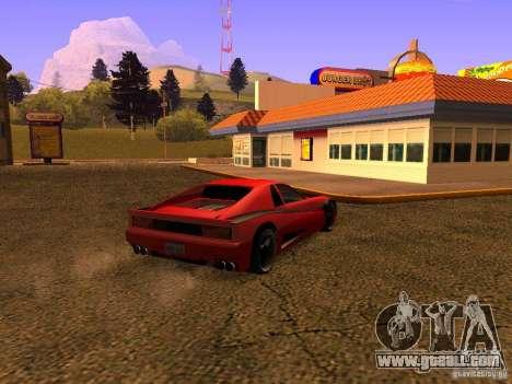New Cheetah for GTA San Andreas left view