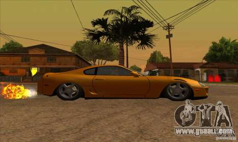 Toyota Supra Drift for GTA San Andreas right view