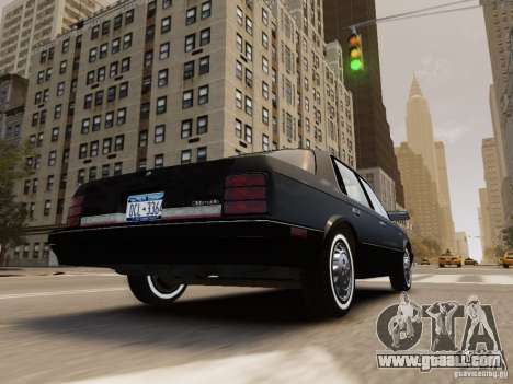 Oldsmobile Cutlass Ciera 1993 for GTA 4 bottom view