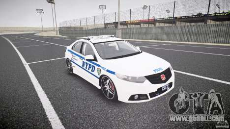 Honda Accord Type R NYPD (City Patrol 1090) ELS for GTA 4 back view