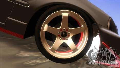 Honda Civic SI for GTA San Andreas bottom view