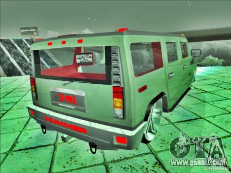 Hummer H2 Phantom for GTA San Andreas left view