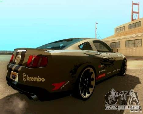 Ford Mustang Boss 302 2011 for GTA San Andreas interior
