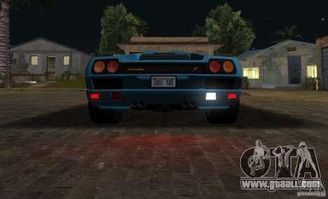 Lamborghini Diablo SV V1.0 for GTA San Andreas inner view