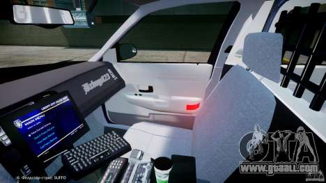 Ford Crown Victoria New York State Patrol [ELS] for GTA 4 inner view