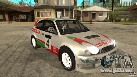 Toyota Corolla 1999 Rally Champion for GTA San Andreas side view