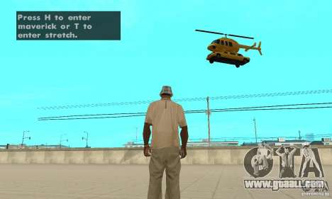 VIP TAXI for GTA San Andreas third screenshot