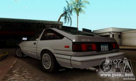 Toyota Corolla GT-S for GTA San Andreas back left view