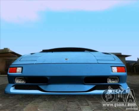 Lamborghini Diablo SV V1.0 for GTA San Andreas engine