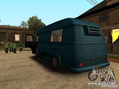 Civilian Hotdog Van for GTA San Andreas left view