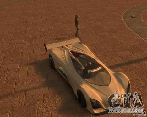 Mazda Furai for GTA 4 back left view