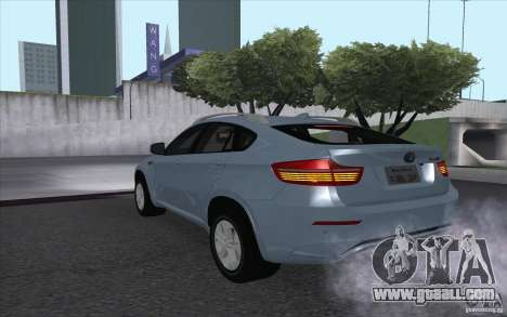 BMW X6M 2013 for GTA San Andreas left view