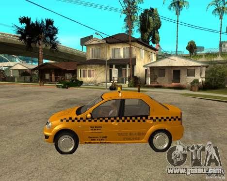 Dacia Logan Taxi Bucegi for GTA San Andreas left view
