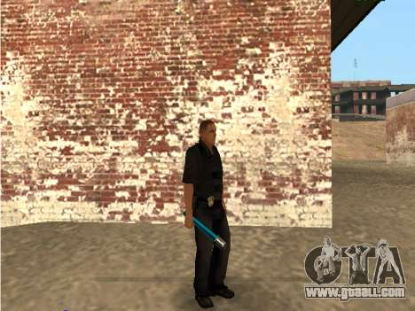 Chrome and Blue Weapons Pack for GTA San Andreas