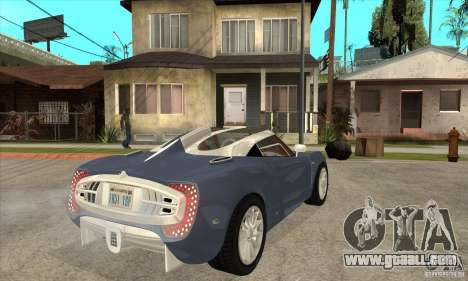 Spyker C12 Zagato for GTA San Andreas right view