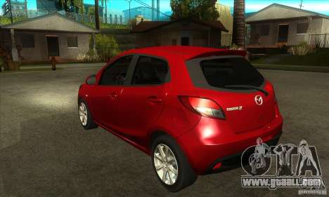 Mazda 2 2011 for GTA San Andreas back left view