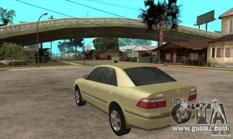 MAZDA 626 GF Sedan for GTA San Andreas back left view