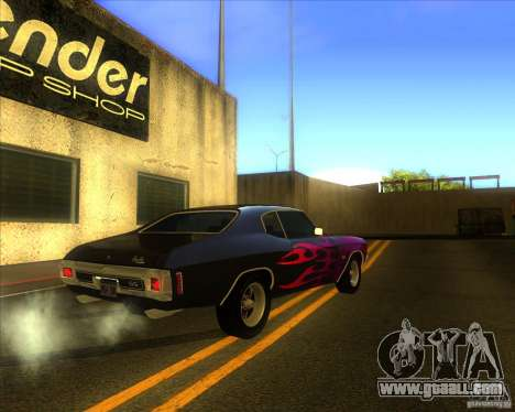 Chevy Chevelle SS stock 1970 for GTA San Andreas right view