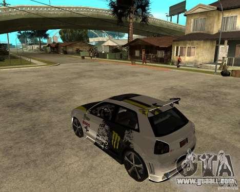 Audi S3 Monster Energy for GTA San Andreas left view