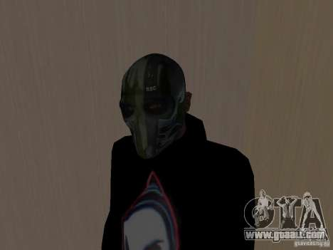 Army of Two Mask Camo for GTA San Andreas second screenshot
