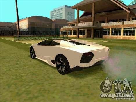 Lamborghini Reventon Convertible for GTA San Andreas back left view