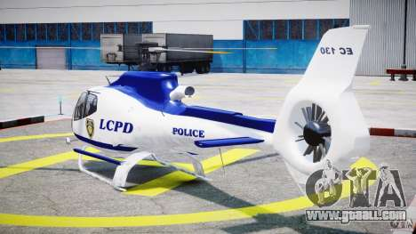 Eurocopter EC 130 LCPD for GTA 4 back left view