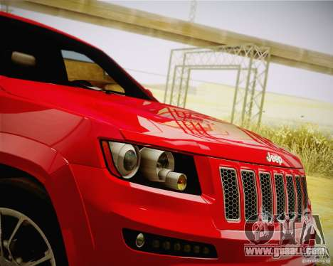 Jeep Grand Cherokee SRT-8 2012 for GTA San Andreas right view