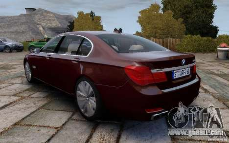 BMW 760Li 2011 for GTA 4 back left view