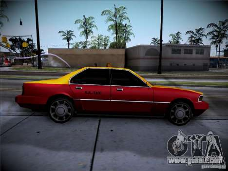 Sentinel Taxi for GTA San Andreas back left view