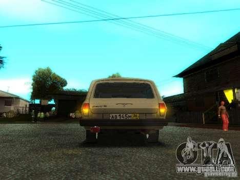 GAZ Volga 310221 Wagon for GTA San Andreas inner view