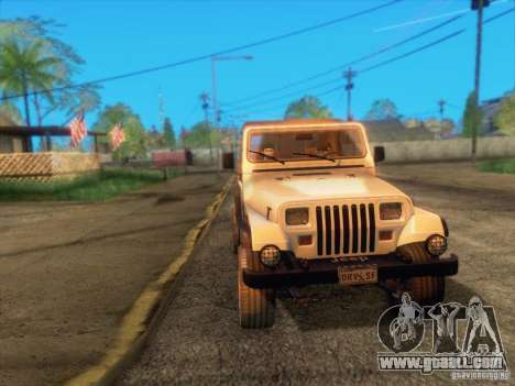 Jeep Wrangler 1994 for GTA San Andreas side view