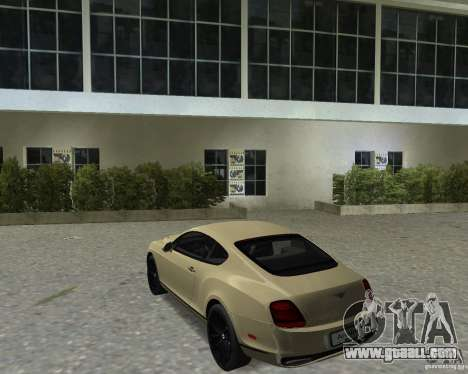 Bentley Continental SS for GTA Vice City right view