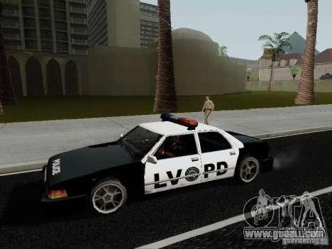 Sunrise Police LV for GTA San Andreas left view