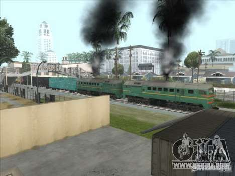 Freight locomotive Baltic States railway picture for GTA San Andreas inner view