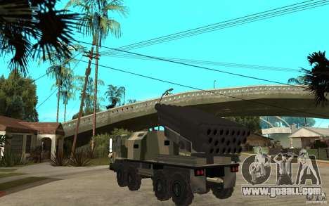 Missile Launcher Truck for GTA San Andreas back left view