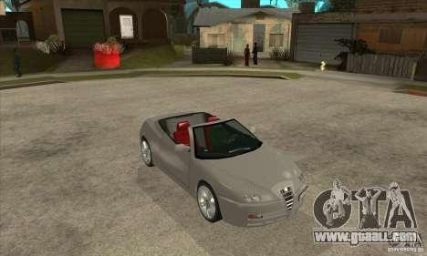 Alfa Romeo Spyder for GTA San Andreas back view