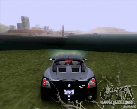 Vauxhall VX220 Turbo for GTA San Andreas back left view