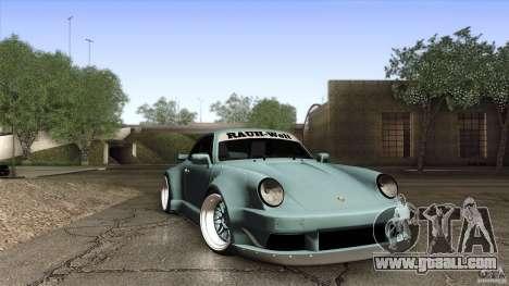 Porsche 911 Turbo RWB DS for GTA San Andreas inner view
