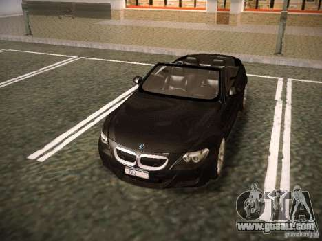 BMW M6 for GTA San Andreas bottom view
