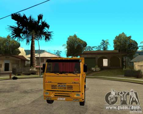 KAMAZ 6520 TAI for GTA San Andreas back view