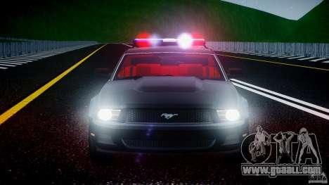 Ford Mustang V6 2010 Police v1.0 for GTA 4 bottom view
