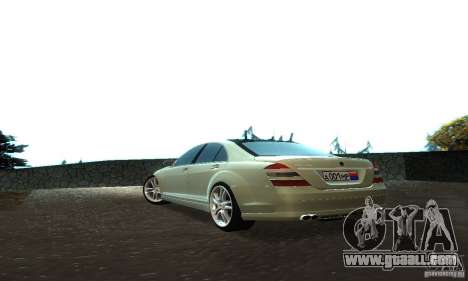 Mercedes-Benz S500 W221 Brabus for GTA San Andreas back view