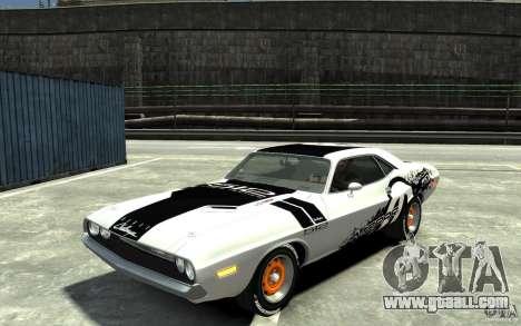 Dodge Challenger R/T Hemi 1970 for GTA 4